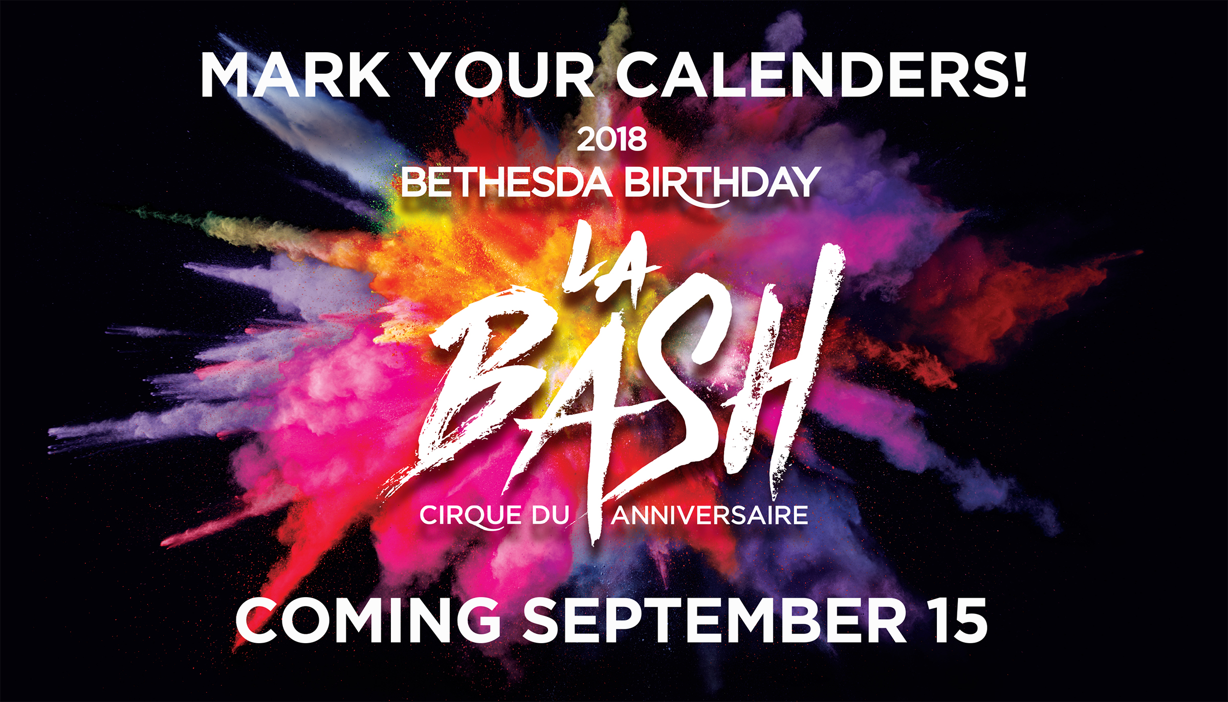 Mark Your Calendar - Birthday Bash 2018