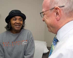 Patient with Dr. Humphries