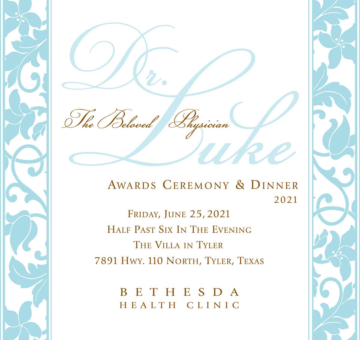 Doctor Luke Society Awards Ceremony & Dinner 2021